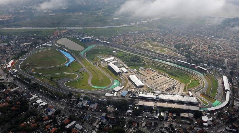 Circuito del GP de Brasil vista aerea