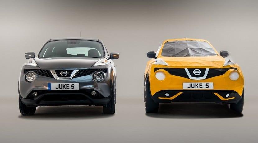 El Nissan Juke celebra su 5º aniversario con una réplica a escala 1:1 de origami