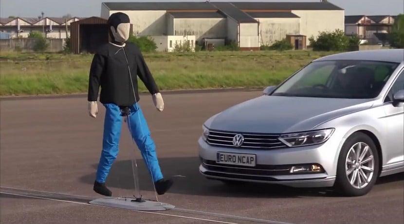 Prueba sistemas detección peatones EuroNCAP