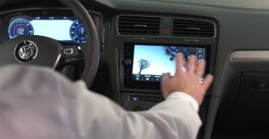 Volkswagen Golf cuadro de mandos digital y control gestual