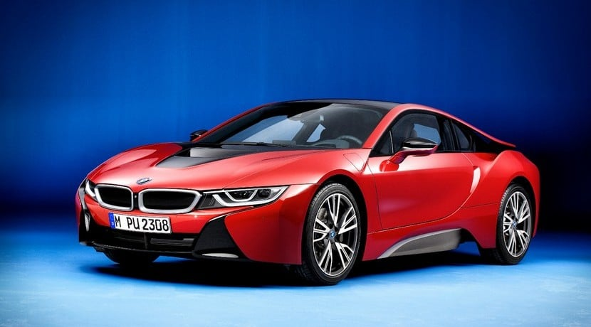 BMW i8 Protonic Red Edition vista frontal