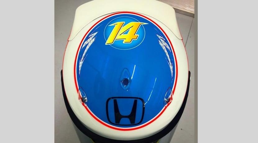 Avance del casco de Alonso para 2016