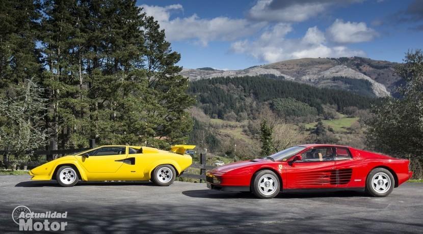 Lamborghini Countach y Ferrari Testarossa de Torre Loizaga