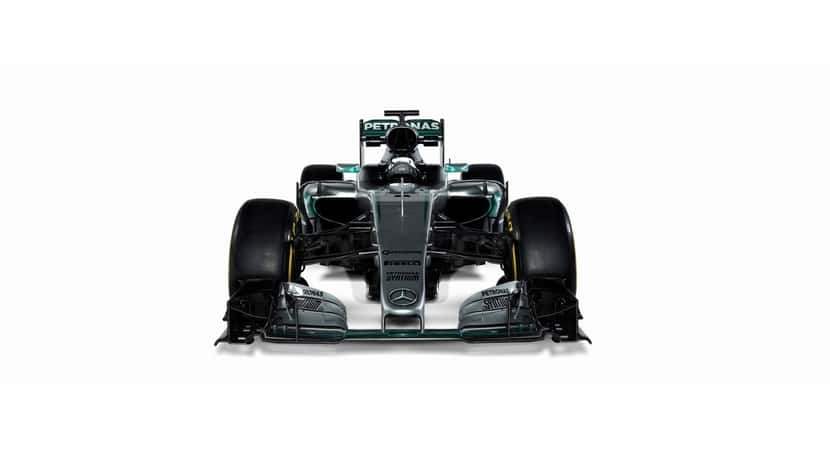 Mercedes W07 vista frontal