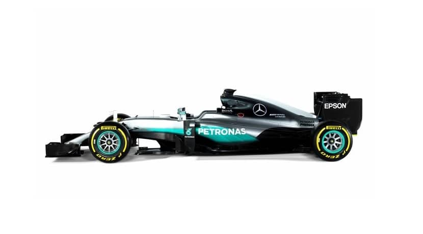 Mercedes W07 Lateral