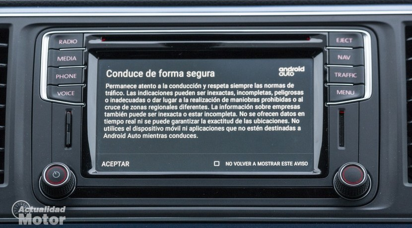 Advertencia de seguridad Android Auto