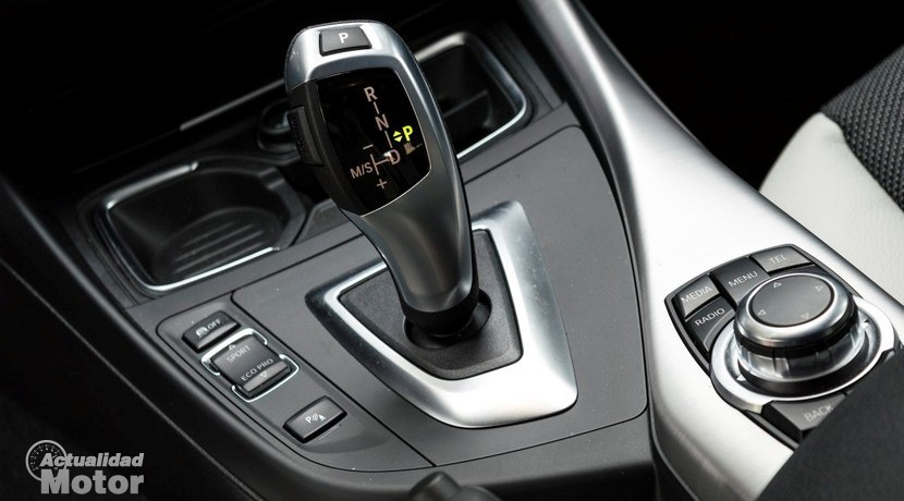 Prueba BMW 118d 5 puertas selector cambio