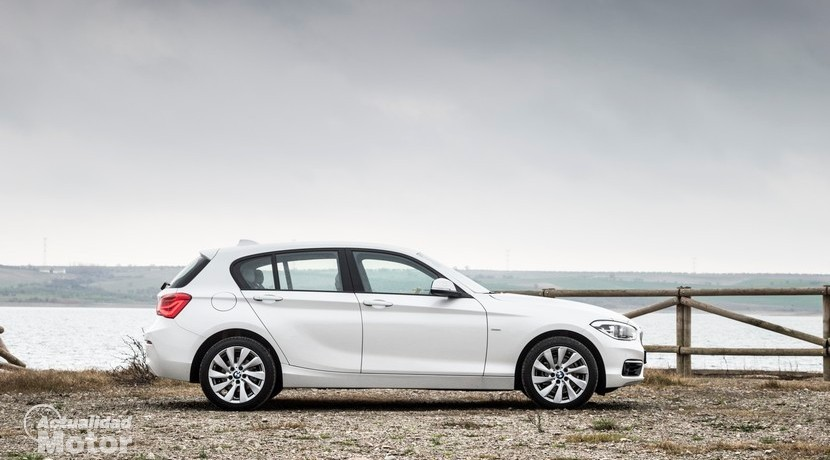 Prueba BMW 118d 5 puertas vista lateral
