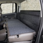 Prueba Volkswagen Amarok 2.0 TDI BiTurbo 180 CV 4Motion Automático asientos traseros abatidos