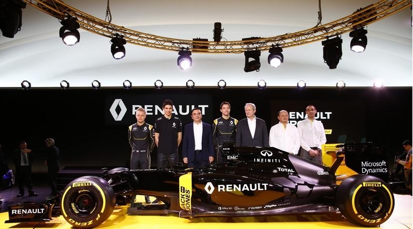 Renault en su presentación F1 2016