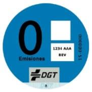 Distintivo ambiental cero emisiones