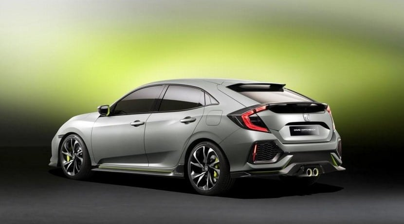 Honda Civic hatchback prototype 2016