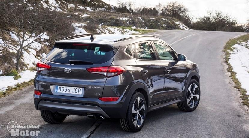 Prueba Hyundai Tucson 1.6 TGDI 176 CV 4x4 vista trasera