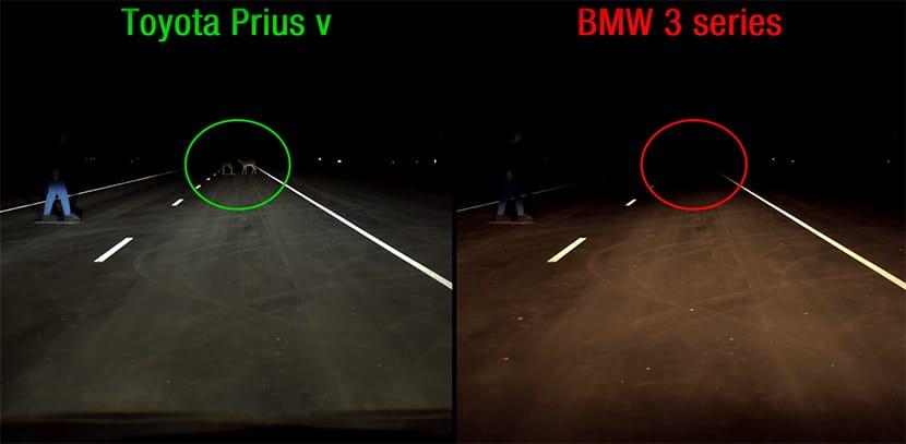 comparativa luces coche