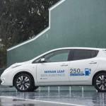 Prueba Nissan Leaf 30kWh vista lateral