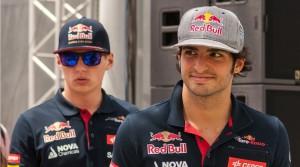 Verstappen y Sainz Jr.