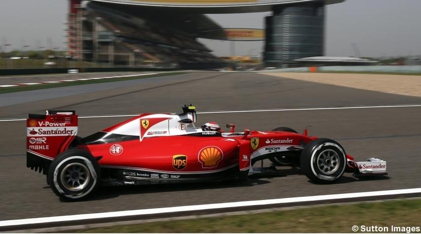 Ferrari de Kimi en el GP de China 2016