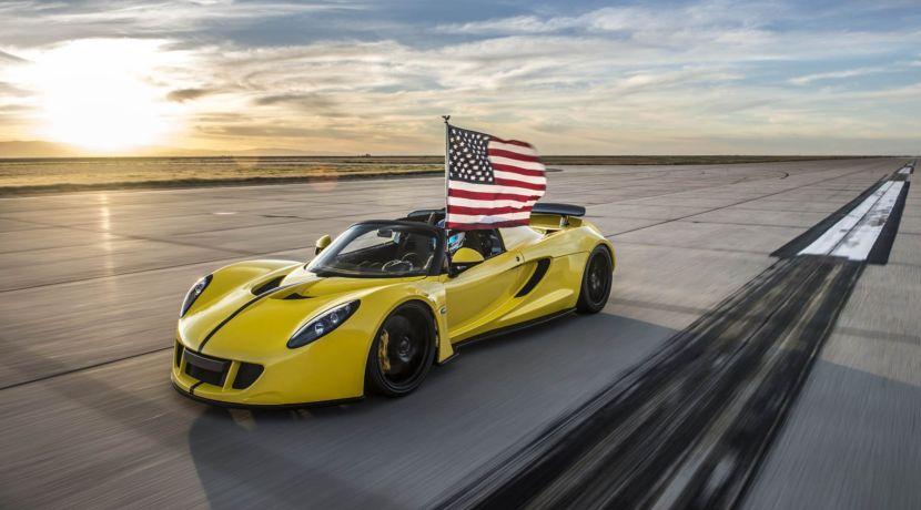 Hennessey Venom GT Spyder descapotable récord
