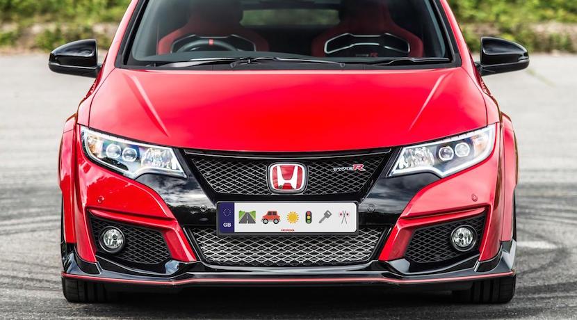 Honda matricula emojis