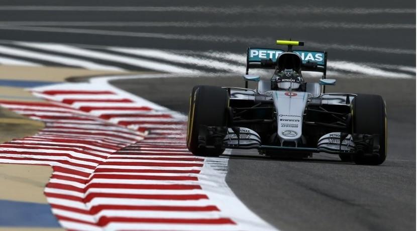 Mercedes de Rosberg en el GP de Bahréin 2016