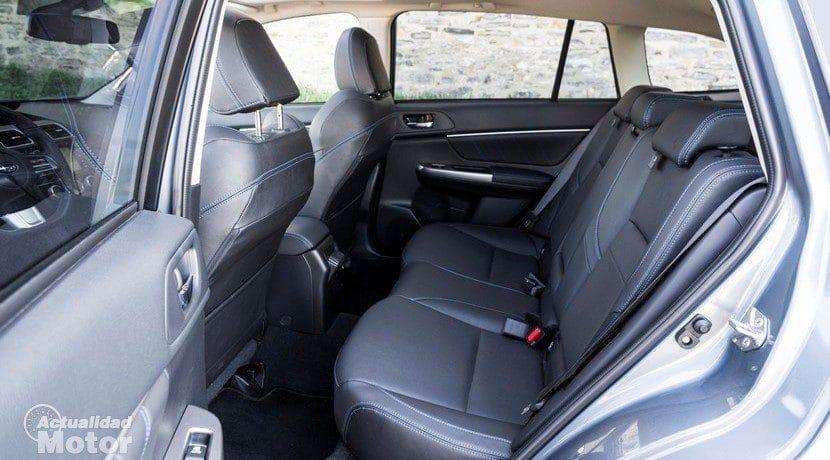 Prueba Subaru Levorg plazas traseras