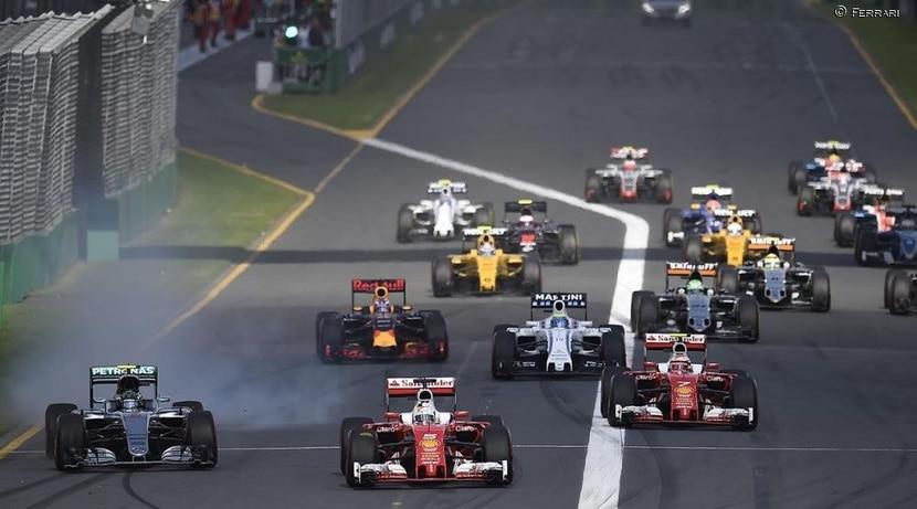 Salida del GP de Australia F1 2016