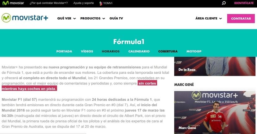 Mensaje en la web oficial donde prometen no interrumpir la emisión