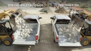 Chevrolet Silverado Ford F-150 resistencia caja