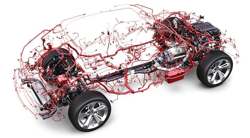 Bentley Bentayga cableado eléctrico