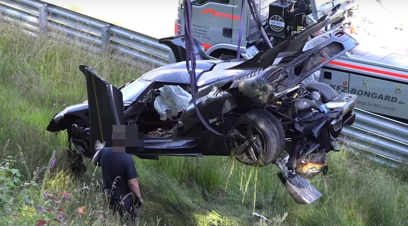 Koenigsegg One:1 accidente Nurburgring