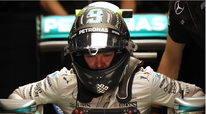 Rosberg en el Mercedes de F1