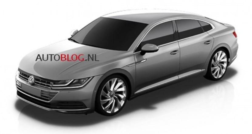 VW CC 2017 frontal
