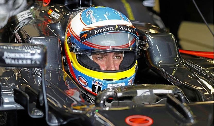 Fernando en el cockpit de su MP4-31