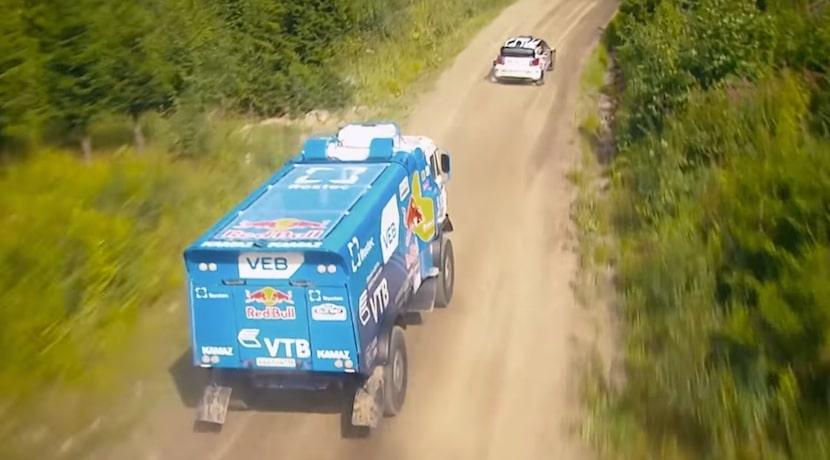 Volkswagen Polo R WRC vs camión Kamaz