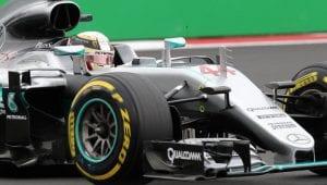 Hamilton en el Mercedes de 2016 de F1