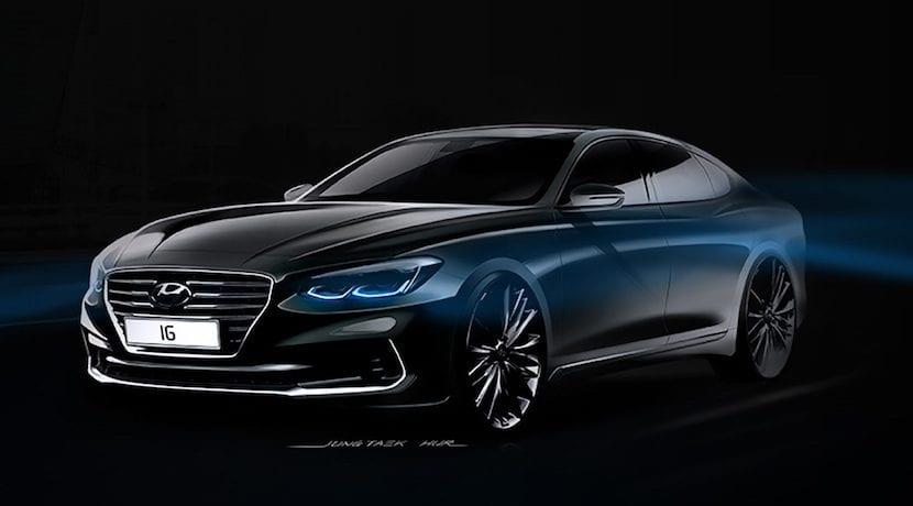 Hyundai Grandeur Azera 2017 bocetos