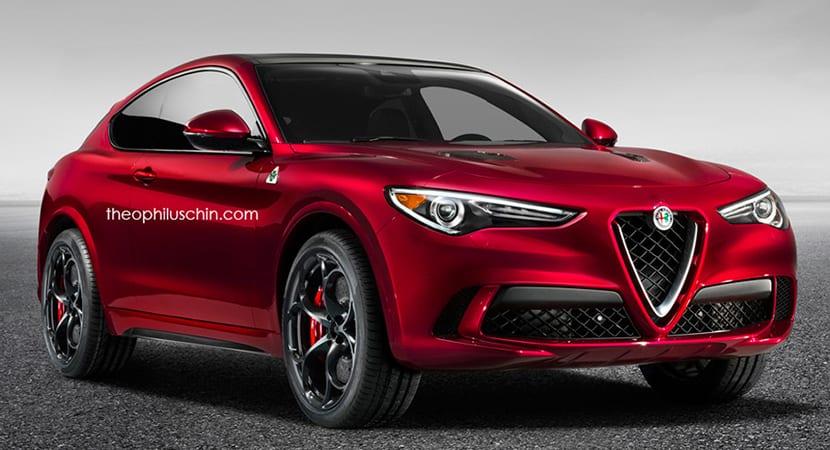 Alfa Romeo Stelvio Coupe Render
