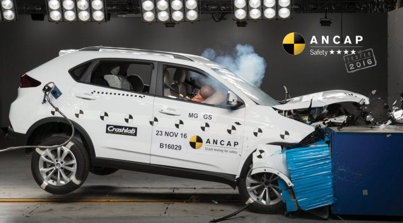 MG GS Crash Test