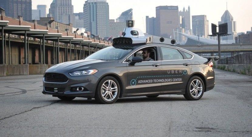 Uber Ford Fusión autónomo