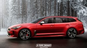Render de X-Tomi Design de un Kia Stinger GT familiar