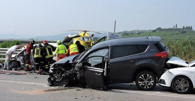 Accidente de tráfico siniestro total