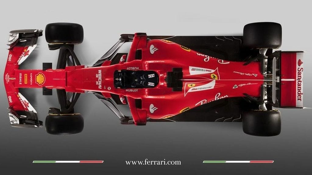 Ferrari SF70-H vista superior