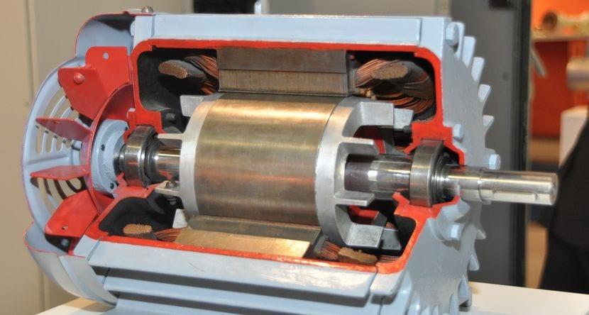 Detalle de un motor eléctrico