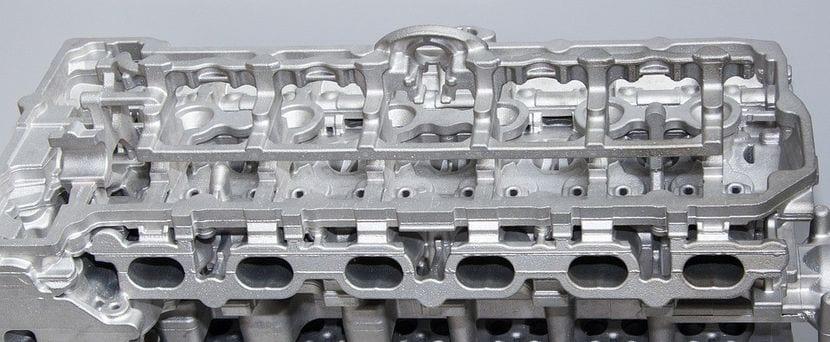Imagen de la parte superior del bloque motor