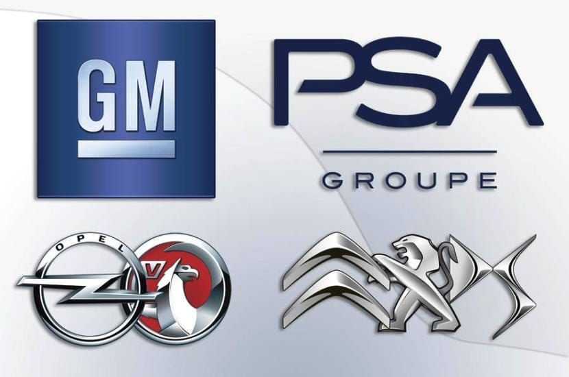 Logo PSA GM (Peugeot, Citroën, DS y Opel)