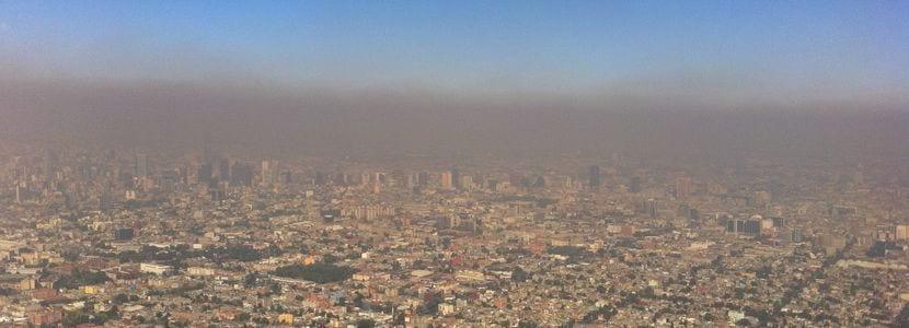 Imagen que refleja el alto nivel de contaminación que hay en Barcelona