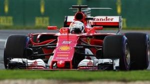 Vettel en el SF17-H