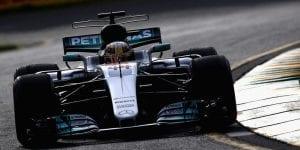 Hamilton en el Mercedes W08