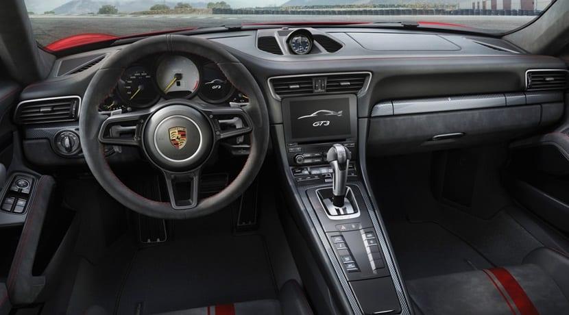 El interior del nuevo 911 GT3