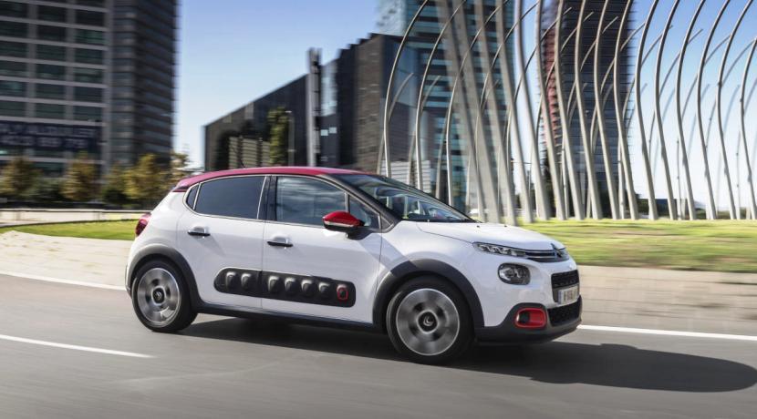Lateral del Citroën C3